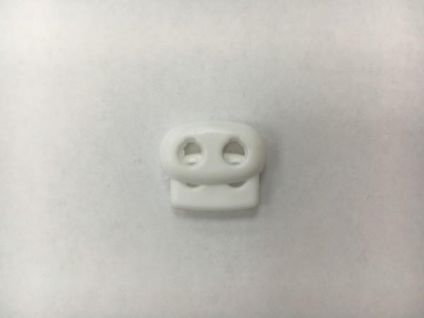 Фиксатор пластиковый двухдырочный малый плоский цв.белый(в упак.1000шт)