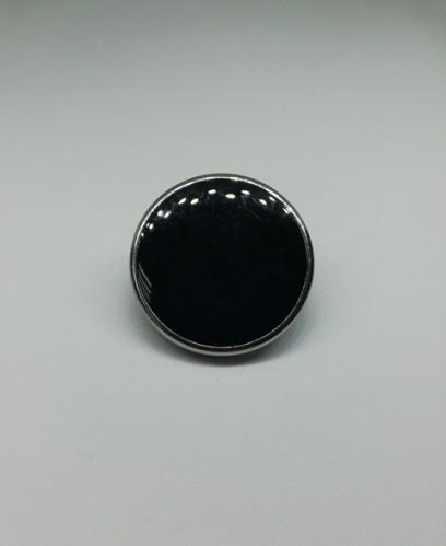 0723 Пуговица металлическая на ножке №24 15мм цв.черный(в упак.1000шт,в кор.№645)