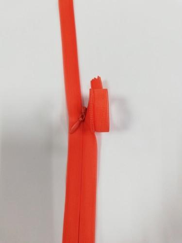 024С Молния потайная Т3 20см цв.оранжевый(в упак.100шт) Китай