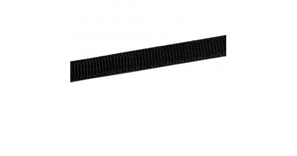 Репсовая лента матовая 10мм цв.черный(в рул.200м)