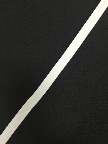 Репсовая лента матовая 15мм цв.белый(в рул.200м)