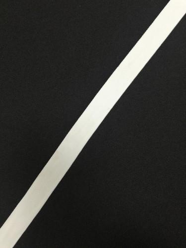 Репсовая лента матовая 20мм цв.белый(в рул.50м)