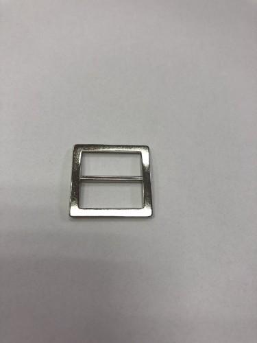 054АА Пряжка-рамка металлическая 2см цв.никель(в упак.100шт)