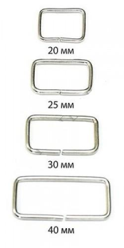 Рамка 2,5*20*25мм цв.никель(в упак.1000шт)