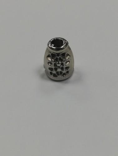 9 Концевик металлический декоративный цв.никель(в упак.1000шт)