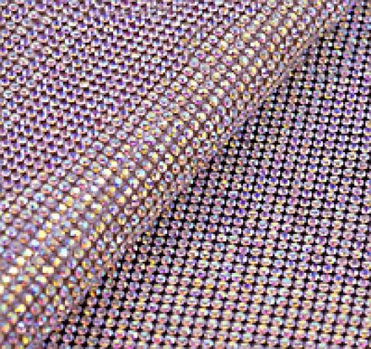 Стразы в рулоне SS10 3мм AB Crystal 45*120см