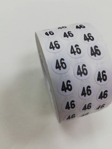 46 Размерники на самоклеящейся бумаге цв.белый(в рул.5000шт)