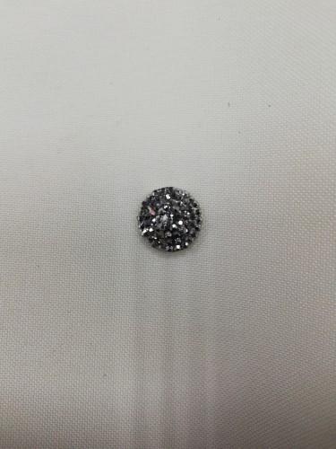Стразы в пупырушку клеевые круг 14мм цв.св.серый Round RBM(в упак.1000шт)