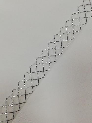 Регилин мягкий 20мм цв.белый/серебро(в рул.23м)