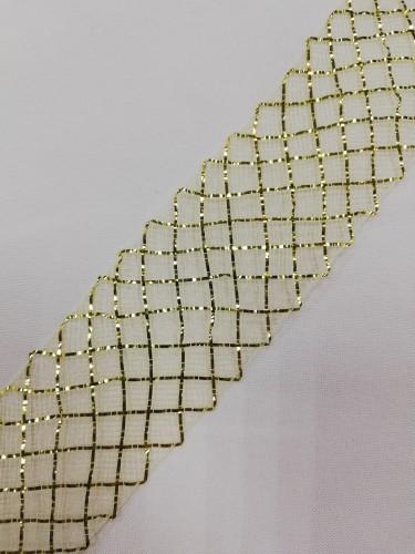 Регилин мягкий 40мм цв.крем/золото(в рул.23м)