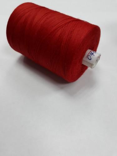 0708 Нить 45ЛЛ 100% ПЭ 2500м цв.красный(в упак.20шт)