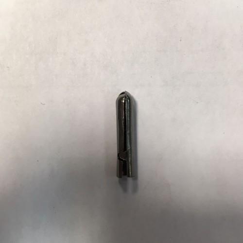 Зажим для шнура круглый цв.ч.никель(в упак.1000шт)