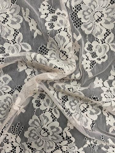 10189 Кружевное полотно-реснички шир.150см цв.пудра