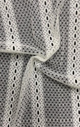 11920 Кружевное полотно-реснички шир.135см цв.белый