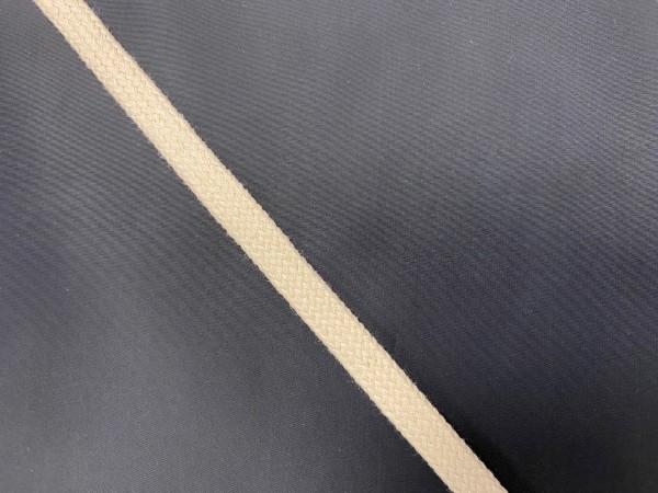 Шнур хлопковый плоский 12мм цв.сырой(в рул.100м)