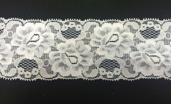 1154 Кружево эластичное полиэстер цв.белый(в упак.30м)