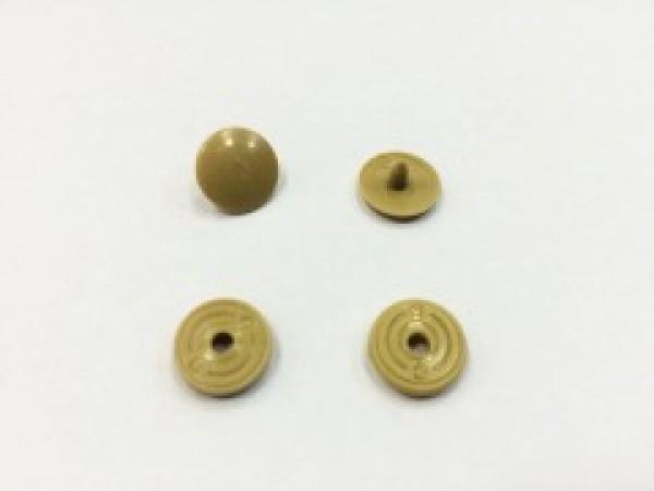 Кнопка пластиковая 10,5мм цв.бежевый(в упак.1000шт)