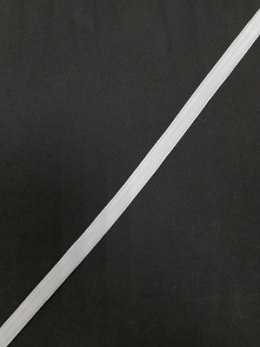 Бархатная лента эластичная 10мм цв.белый(в рул.200м)
