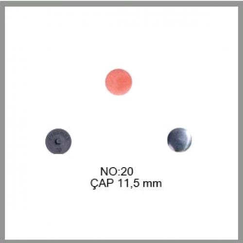 Заготовка для обтяжки пуговиц на пластиковой ножке №20 12,5мм цв.черный(в упак.500шт)