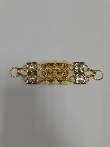 15R Пряжка декоративная цв.золото(в упак.10шт)
