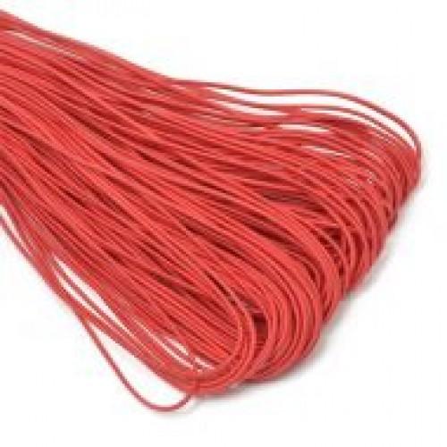 Резинка шляпная 2мм цв.красный(в рул.50м)