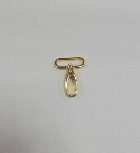 8006 Карабин 3см цв.золото(в упак.100шт)