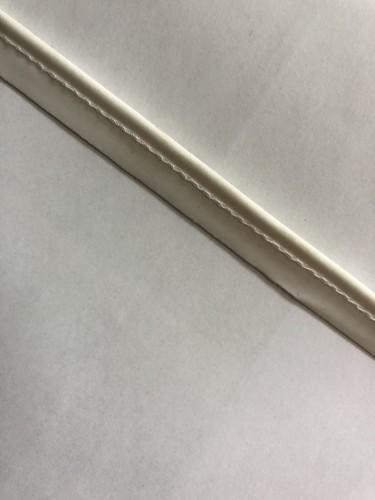 Кант кожаный матовый цв.белый(в рул.100м)