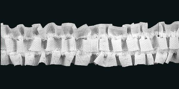 Шторная тесьма №012В 30мм цв.белый(в рул.100м)
