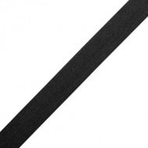 Резинка вязаная стандартная 030мм цв.черный(в рул.40м)