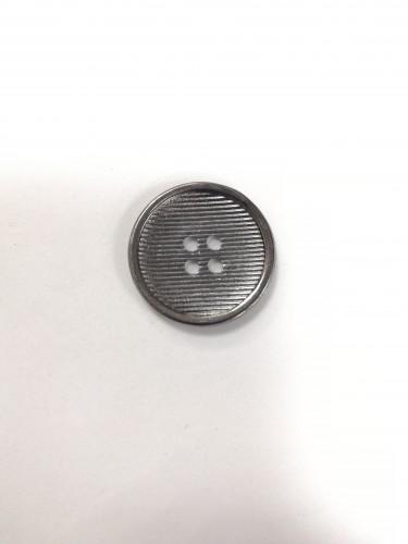 2 Пуговицы литые пришивные цв.черный никель