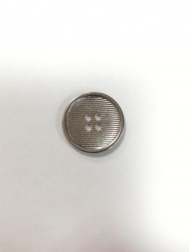 2 Пуговицы литые пришивные цв.никель