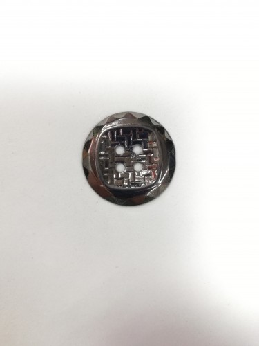 4 Пуговицы литые пришивные цв.черный никель