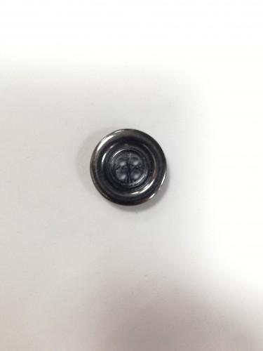 8 Пуговицы литые пришивные цв.черный никель