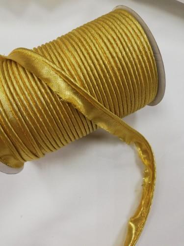 Gold Кант атласный цв.золотой люрикс(в рул.72 Yds)