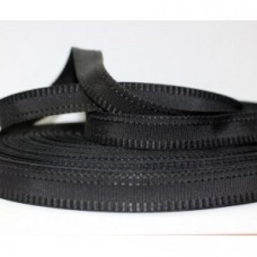 Брючная лента 15мм цв.№322 черный(в рул.50м)