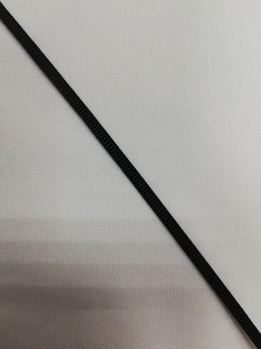 Репсовая лента блестящая 03мм цв.черный(в рул.457,2м)