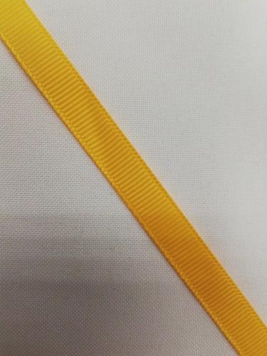 Репсовая лента блестящая 10мм цв.14-0951 желтый(в рул.100м)