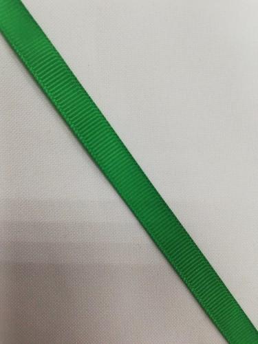 Репсовая лента блестящая 10мм цв.17-6030 зелёный(в рул.100м)
