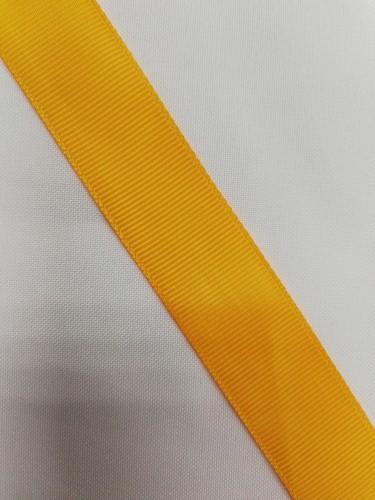 Репсовая лента блестящая 25мм цв.14-0951 желтый(в рул.100м)