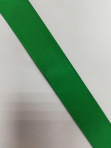 Репсовая лента блестящая 25мм цв.17-6030 зелёный(в рул.100м)