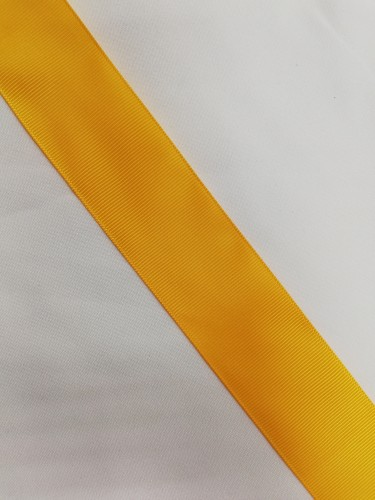 Репсовая лента блестящая 38мм цв.14-0951 желтый(в рул.100м)
