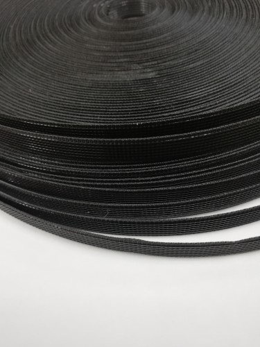 Регилин жесткий 10мм цв.черный(в рул.50м)