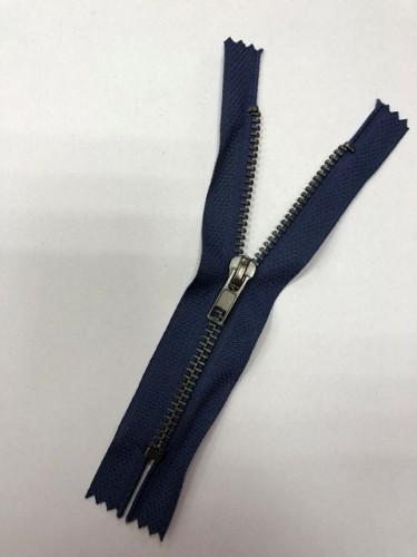 Молния джинсовая Т4 16см неразъемная оксид цв.№330 т.синий(в упак.100шт)