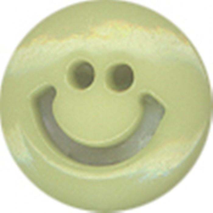 №4 Пуговица детская (улыбочка) №20 12,5мм цв.салатовый 005(в упак.100шт)