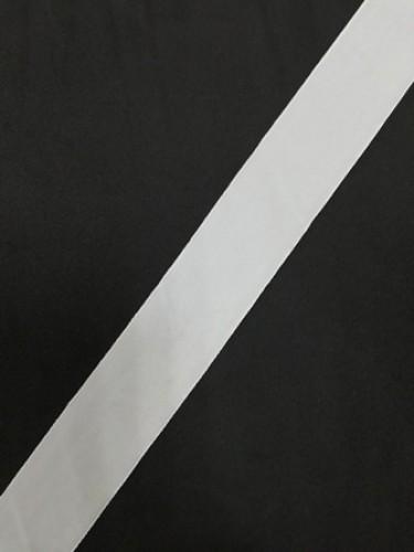 Бархатная лента 30мм цв.белый(в рул.50м)