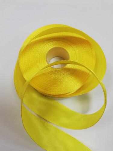 110 Атласная лента 25мм цв.желтый(в рул.33м)