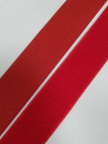 Липучка 050мм цв.красный(в рул.25м)