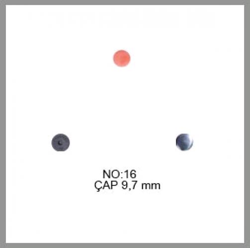 Заготовка для обтяжки пуговиц на пластиковой ножке №16 10мм цв.черный(в упак.500шт)