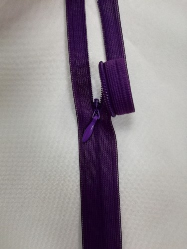 0867 Молния потайная Т3 60см цв.т.фиолетовый(в упак.50шт)