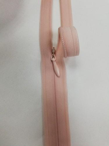 0274 Молния потайная Т3 60см цв.пыльно-розовый(в упак.50шт)